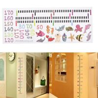 Removable Growth Chart Kids Height Measure Tool Room Wall Decal Decor Sticker