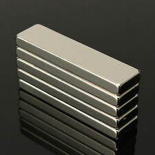N35 40x10x4mm Block Aimant Magnet Magnetique Puissant Neodyme Neodymium 5pc