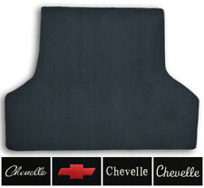 1968-1969 Chevrolet Chevelle Loop Carpet Logo Trunk Mat with Pad 1pc