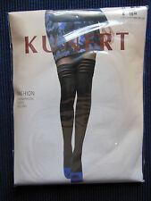 KUNERT Fashion Strumpfhose halterlose Optik Gr.40-42 black s. Bilder