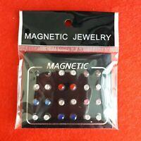 12 Pair Magnetic Earrings. Stainless steel.