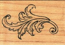 PSX ~ LEAFY FLOURISH ~ Wood Mounted Rubber Stamps Spring Summer Nature Trees