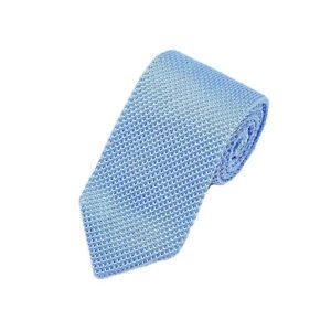 Men Solid Knitted Crochet 7CM Necktie Wedding Party Business Formal Arrow Tie
