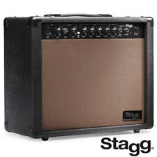 "NEW Stagg 40 AA R USA Acoustic Guitar Amplifier With Spring Reverb + 10"" Speaker"