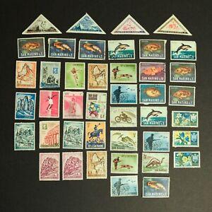 SAN MARINO Vintage Postage Stamps - Italy Europe Fish Sport 510