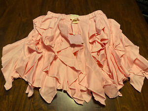 Nwt Lemon Loves Lime Light Pink Cascade Skirt Size 7