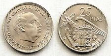 Estado Español - 25 Pesetas 1957*67 Madrid. SC/UNC. Niquel. 8,5 grs. Escasa