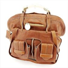 Chloe Shoulder bag Brown Gold Woman Authentic Used T7100
