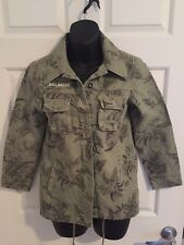 Billabong Womens Khaki Green Tropcal Jacket - Size 10