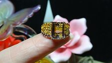 Anahi Ametrine, Citrine Openwork Ring in 14K YG & Platinum Over 925 SS Size 7