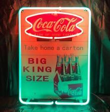 """COCA COLA COKE TAKE HOME A CARTON SODA DRINK PEPSI MILLER NEON LIGHT SIGN 11""""X8"""""""