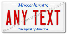 Massachusetts Your Personalized Text License Plate Tag Prop Replica Gift Mom Dad