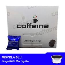 100 CAPSULE Caffè Coffeina Miscela BLU Compatibili UNO SYSTEM NUOVA PRODUZIONE