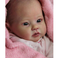 "Handmade DIY 20"" Reborn Kits Soft Silicone Head Limb Mold Blank Baby Doll"