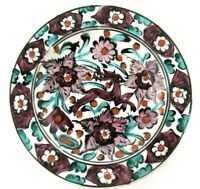 Icaros Pottery Rhodes Greece Wall Plate Signed Numbered Hand Made Hand Painted