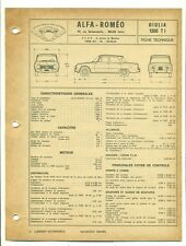 FICHE TECHNIQUE DE L'EXPERT AUTOMOBILE : ALFA ROMEO GIULIA 1300  T I