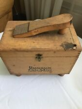 1950's Ronson Roto-Shine Magnetic Electric Shoe Polisher Kit W/ Wood Case NICE !