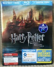 Harry Potter & the Deathly Hallows Part 2 (Blu-ray-DVD, 4-Disc,) New Fast Ship