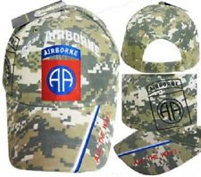 US Army 82nd Airborne All The Way ACU Digital Camo Shadow Baseball Hat Cap (RAM)