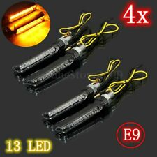 4X Motorcycle Bike 13 LED Turn Signal Indicator Blinker Light Lamp Amber E-mark