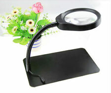 New LED Desk Table Top 8X Magnifying Reading Repair Magnifer Working Plate Lamp