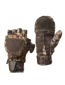 *NEW* Mossy Oak Hunting Gloves YOUTH Pop-Top - Size Youth L/XL Microban Non-slip
