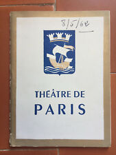 Programme Theatre de Paris the Contessa or Pleasure D' Be Maurice Druon