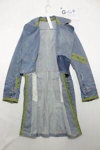 Veste Long Artisanal (Code G149) TAILLE. XS Jeans Used Femme Vintage RAR Rétro