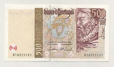 Portugal 500 Escudos 7-11-2000 Pick 187.c aUNC Almost Uncirculated Banknote