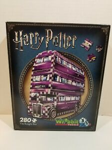 Wrebbit 3D Puzzles Harry Potter The Knight Bus 280 Piece 3D Puzzle New, Sealed