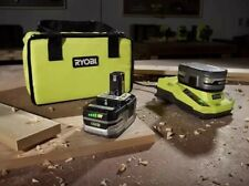 Ryobi 18V ONE+ Li-Ion Battery Stater Kit - Two 3.0Ah Battery, Rapid charge & Bag