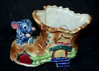 Vintage Japan Whimsical Elephant on Shoe Boot House Planter