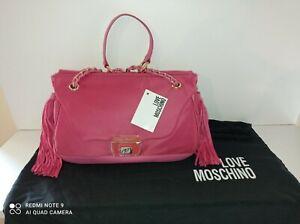 Magnifique Sac Love Moschino, neuf Avec Etiquette, Rose Satiné, Avec Dustbag