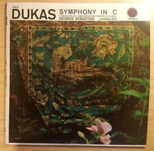 "Paul Dukas: Symphony in C Major, George Sebastian 12"" LP, Urania UR 7102 VG"