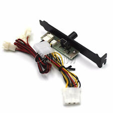 3-Channels PC Cooler Cooling Fan Speed Controller for CPU Case HDD DDR VGA