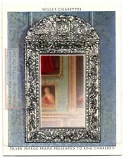 1600s King Charles II Silver Mirror Frame England Funtiture 1930s Trade Ad Card