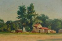 Rare Tableau Orientaliste Algérie paysage vue de ferme Constantine hsp Castelli