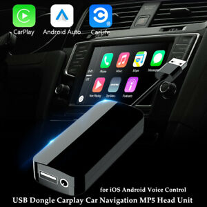 Voice Control USB Car CarPlay Dongle Adapter For Android iOS Autolink Music Navi