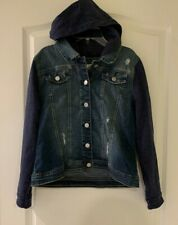 Justice Hoodie Jean Jacket Girl's Size 18/20 New with Tags