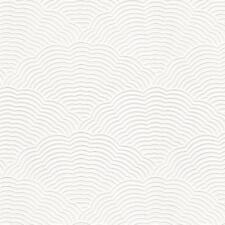 White Blown Vinyl Wallpaper Embossed Textured Paintable Fan Artex