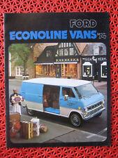 1974 Ford ECONOLINE VANS sales brochure