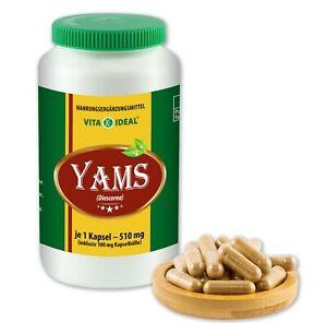 VITA IDEAL® Yamswurzel Kapseln (Dioscorea) je 510mg ohne Zusatzstoffe