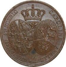 O5428 Rare Essai Louis XVIII 2 francs visite Prince Danemark 1822 Desnoyers SPL