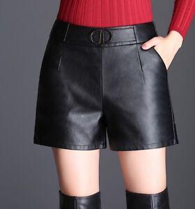Pantaloncini donna pelle sintetica hotpant zip vita alta shorts TOOCOOL JL-2622