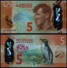 NEW ZEALAND 5 DOLLARS (P191) 2015 POLYMER UNC