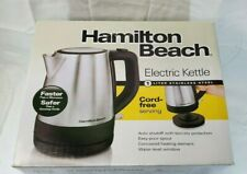Hamilton Beach ` Electric Kettle Stainless Steel (Cordless) New
