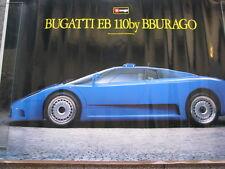 Poster Bugatti EB110 by Bburago