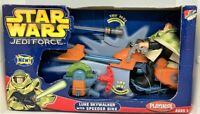 "Star Wars Jedi Force Luke Skywalker 6"" Action Figure With Speeder Bike Playskool"