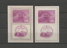 Eisenbahn, Railways - Jugoslawien - Bl.4 A/B ** MNH 1949