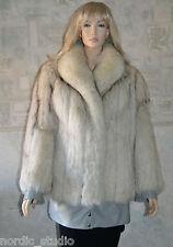 SAGA FOX - Norwegian Arctic Fox Fur and Leather Jacket, sz 12
